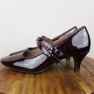 Aerosoles Mary Jane Velcro Strap Pump Heel Size 6